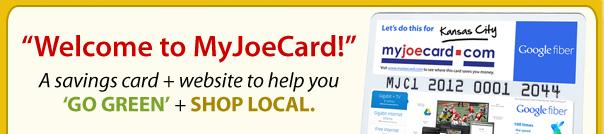 Welcome to MyJoeCard!